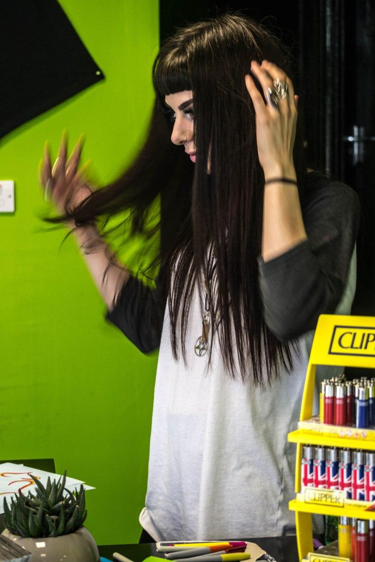 'MY HAIR'S A MESS' SHE CRIED
