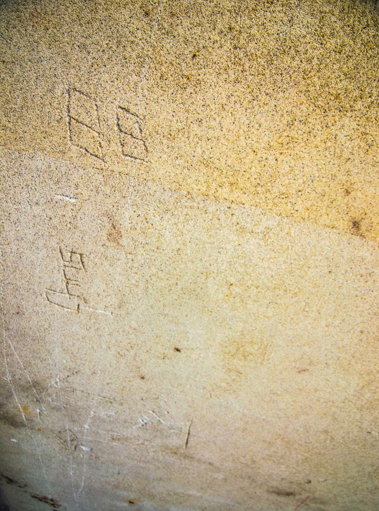 20TH/21ST CENTURY CAVE MARKINGS BY MAN