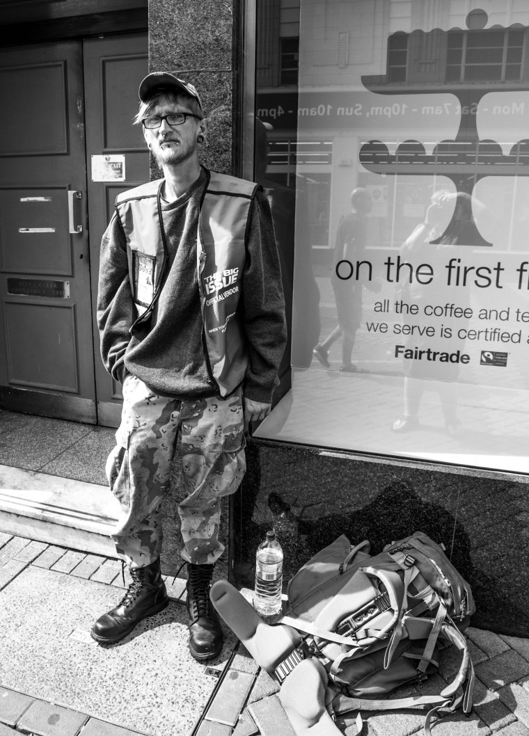 PETE, BIG ISSUE SELLER